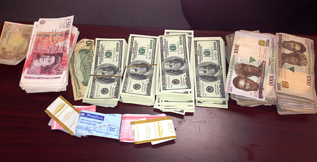 Picture of what the cash seized at Dulles airport looked similar to.