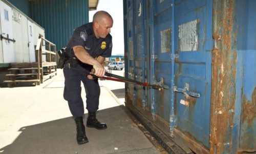 U.S. CBP seized cash hidden in a shipping container at the San Juan, Puerto Rico seaport.