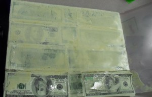 CBP found this $228,100 of suspected counterfeit U. S. currency in cushions.