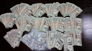 San Antonio Airport picture of $16,000 in unreported currency.