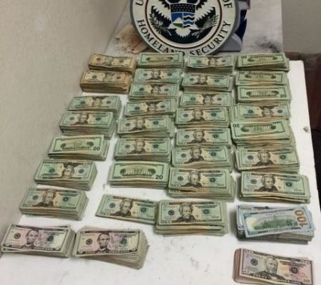 CBP in Laredo, Texas, seized more than $130,000 from 2 Mexican nationals return to Mexico