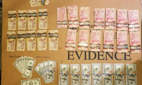 Image of Canadian and US cash seized by CBP at Massena NY by U.S. Customs & Border Protection