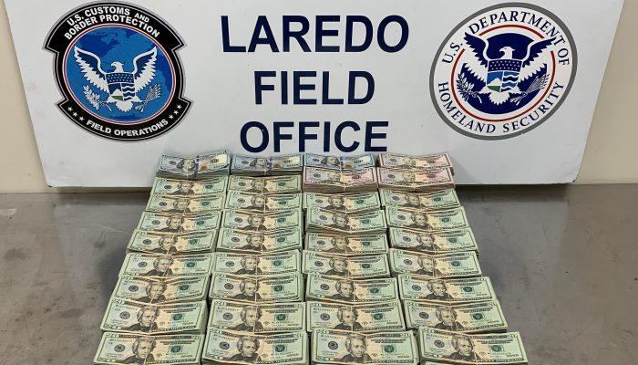 Cash Seized by Laredo CBP