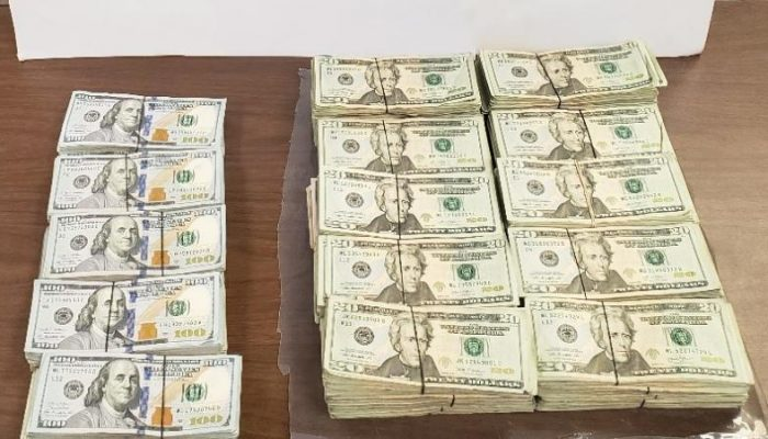 Stacks of Cash Seized by CBP at Veterans International Bridge